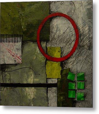 Red Circle No.1 Metal Print by Laura  Lein-Svencner
