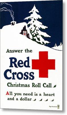 Red Cross Poster, C1915 Metal Print by Granger