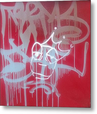 Red Graffiti Metal Print by Anna Villarreal Garbis