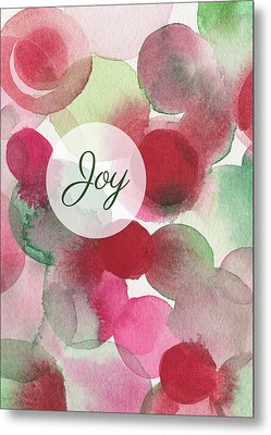 Red Green Fuchsia Chic Holiday Card Metal Print by Beverly Brown
