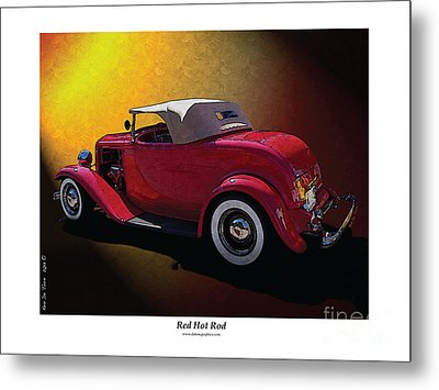 Red Hot Rod Metal Print by Kenneth De Tore