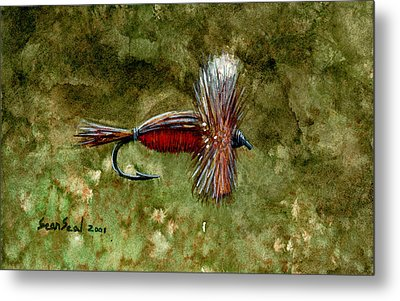Red Humpy Metal Print by Sean Seal
