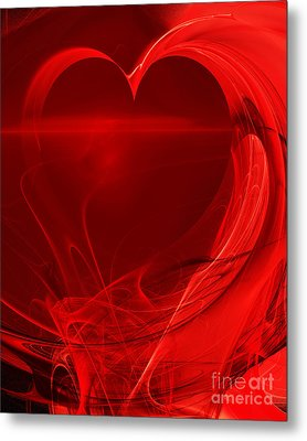 Red Love . A120423.279 Metal Print by Home Decor
