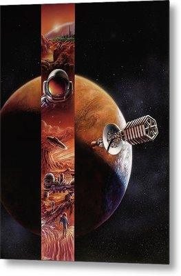 Red Mars Cover Painting Metal Print by Don Dixon