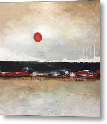 Red Moon Metal Print by Vital Germaine