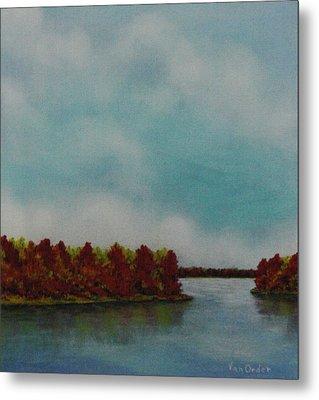 Red Oaks On The River Metal Print by Richard Van Order
