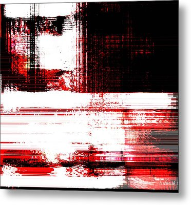 Red On Wood Metal Print by Fania Simon