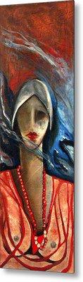 Red Pearls Metal Print by Niki Sands