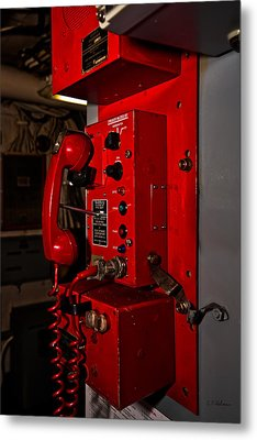 Red Phone Metal Print by Christopher Holmes