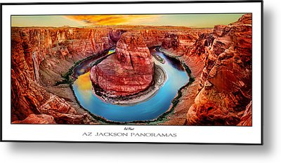Red Planet Panorama Poster Print Metal Print by Az Jackson