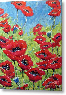 Red Poppies By Prankearts Metal Print by Richard T Pranke