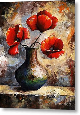 Red Poppies Metal Print by Emerico Imre Toth