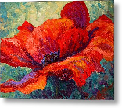Red Poppy IIi Metal Print by Marion Rose