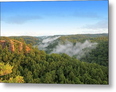 Red River Gorge Kentucky View Of Chimney Top Rock At Sunset Metal Print by Design Turnpike