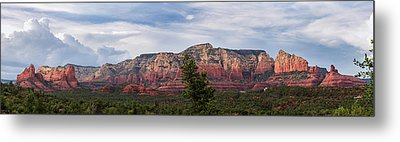 Red Rock And Blue Skies Metal Print by Ron McGinnis