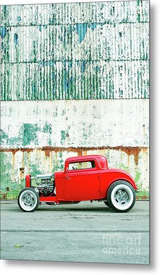 Red Rod Coupe Metal Print by Tim Gainey
