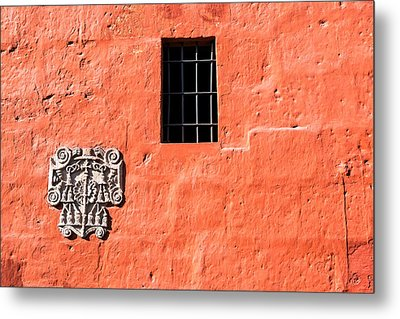Red Santa Catalina Monastery Wall Metal Print by Jess Kraft