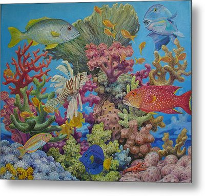 Red Sea Reef Metal Print by Henry David Potwin