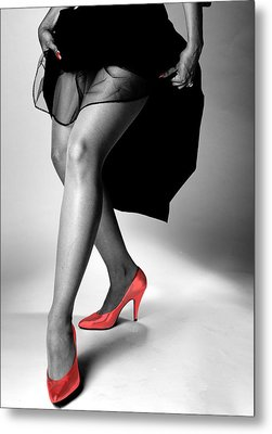Red Shoes Metal Print by Jerry Taliaferro