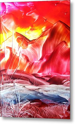 Red Sky At Night...... Metal Print by Tezz J