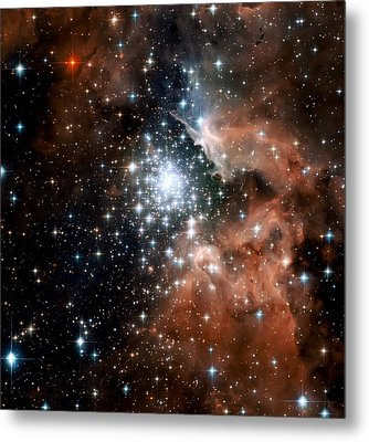 Red Smoke Star Cluster Metal Print by The  Vault - Jennifer Rondinelli Reilly