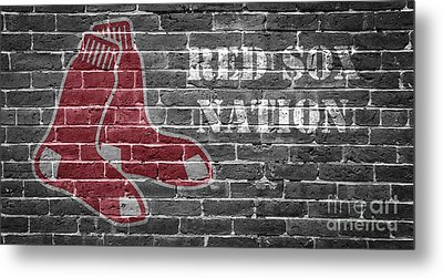Red Sox Nation Metal Print by Edward Fielding