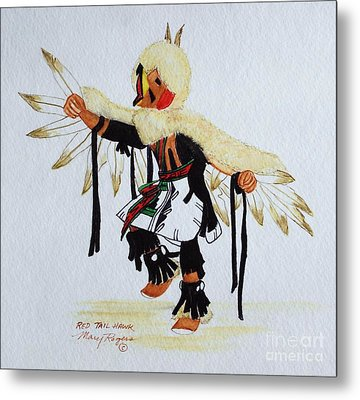Red Tail Hawk Metal Print by Mary Rogers