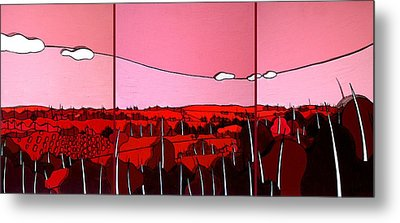 Red Tuscan Longview Metal Print by Jason Charles Allen
