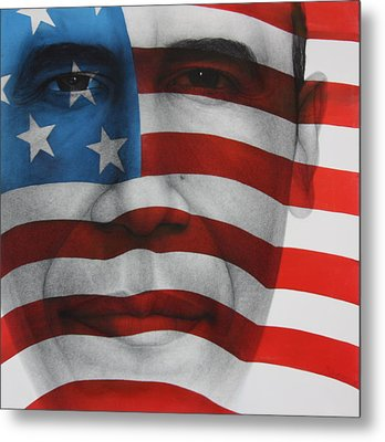 Red White And Blue Metal Print by Gary Kaemmer