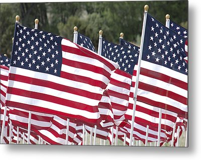 Red White And Blue Metal Print by Jerry McElroy