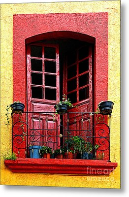 Red Window Metal Print by Mexicolors Art Photography