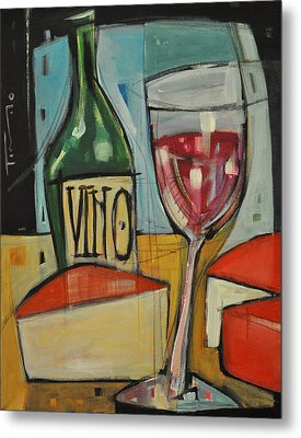 Red Wine And Cheese Metal Print by Tim Nyberg