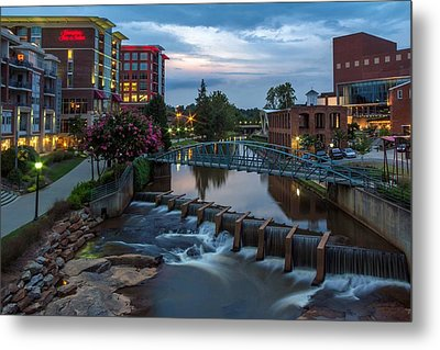 Reedy River View At Sunset Metal Print by Janet Barnes