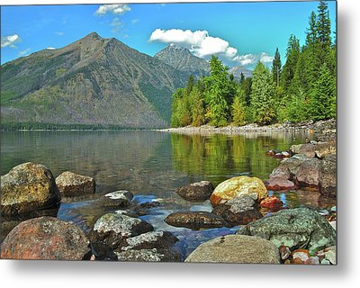 Reflections Glacier National Park  Metal Print by Michael Peychich