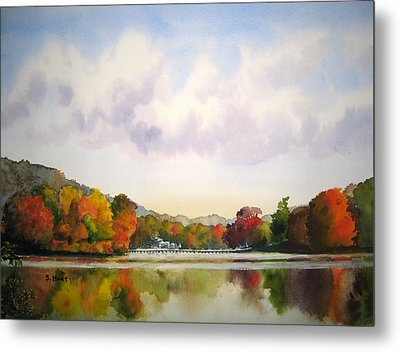 Reflections Of Fall Metal Print by Shirley Braithwaite Hunt