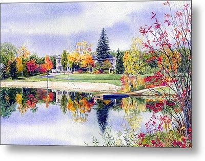 Reflections Of Home Metal Print by Hanne Lore Koehler