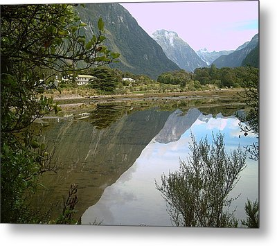 Reflections  Of The Mountings Metal Print by Joyce Woodhouse