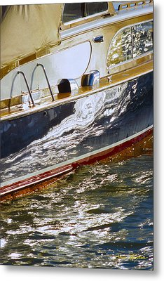 Reflections On Lorelei - Lake Geneva Wisconsin Metal Print by Bruce Thompson