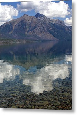 Reflections On The Lake Metal Print by Marty Koch