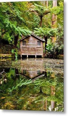 Reflections On The Pond Metal Print by Az Jackson