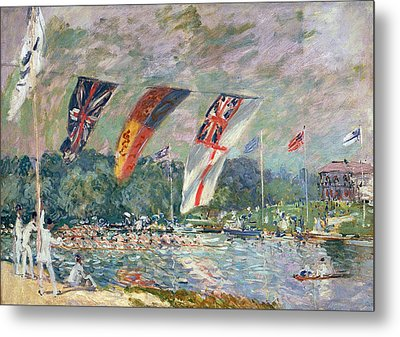 Regatta At Molesey Metal Print by Alfred Sisley