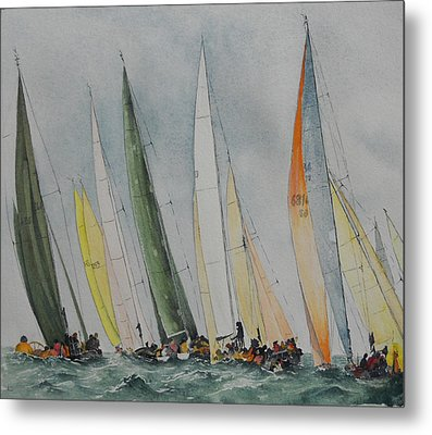Regatta Metal Print by Carol McLagan
