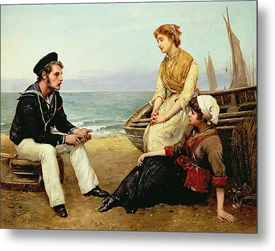 Relating His Adventures Metal Print by William Oliver