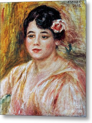Renoir: Adele Besson, 1918 Metal Print by Granger