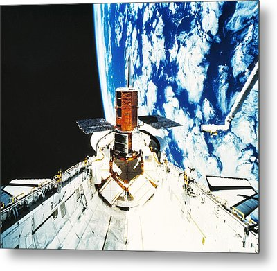Repaired Solar Maximum Misson Onboard Metal Print by NASA / Science Source
