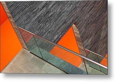 Repeat The Orange Metal Print by Jeroen Van De Wiel