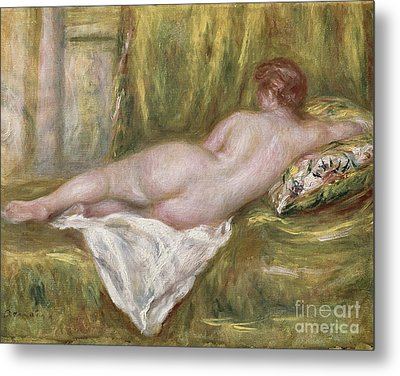 Rest After The Bath Metal Print by Pierre Auguste Renoir