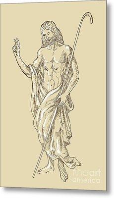 Resurrected Jesus Christ Metal Print by Aloysius Patrimonio