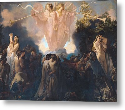 Resurrection Of The Dead Metal Print by Victor Mottez