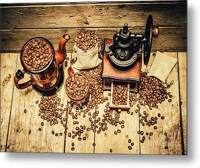 Retro Coffee Bean Mill Metal Print by Jorgo Photography - Wall Art Gallery